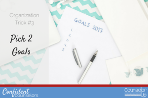 School Counselor Organization Pick 2 Goals