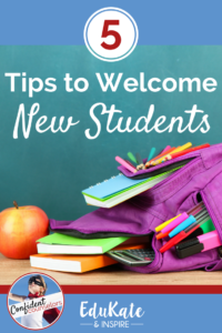 5 Tips to Welcome New Students