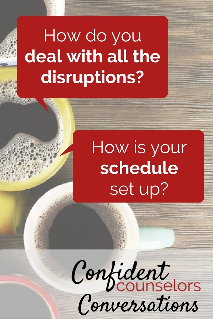 school counseling schedule disruptions pin
