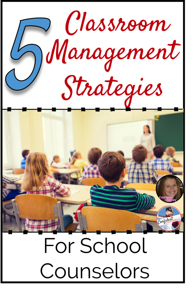 5 Classroom Management Strategies for School Counselors. These 5 classroom management tips will help school counselors to help students be on track and focused during small groups or classroom guidance lessons.