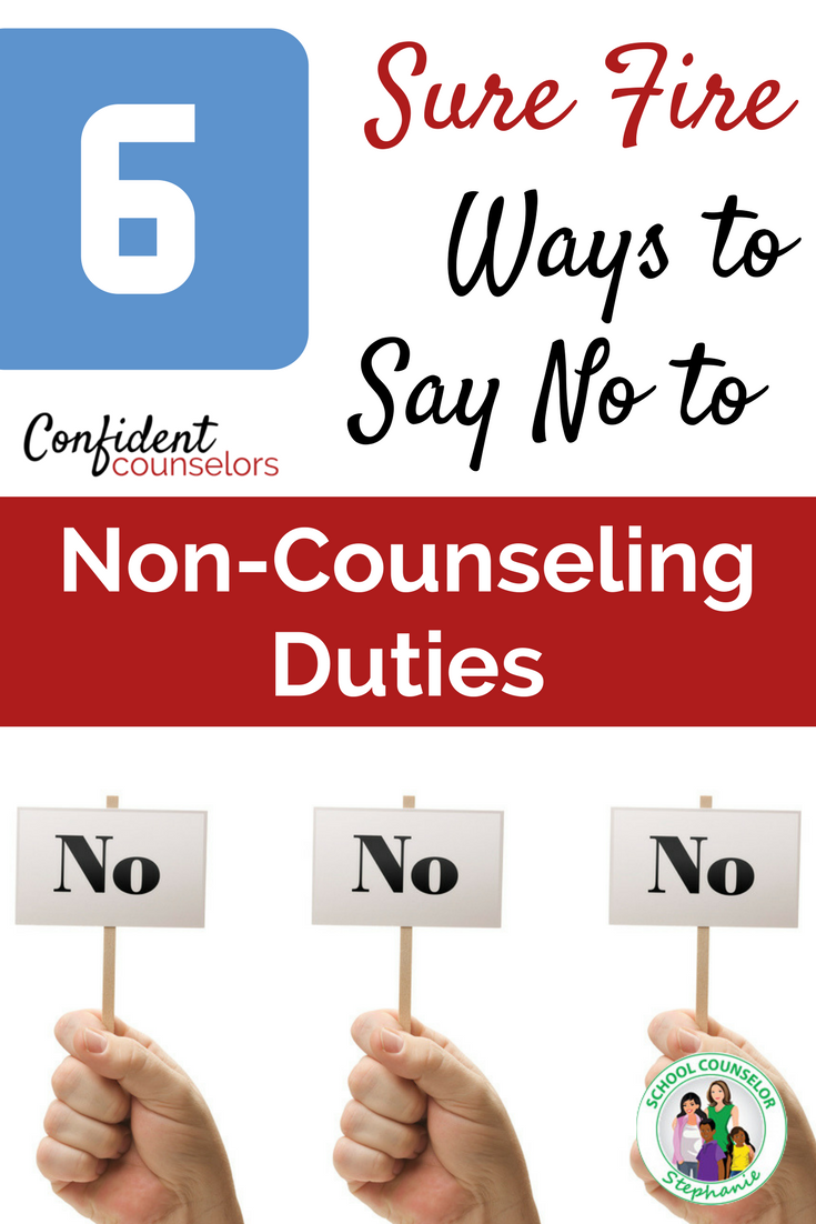 pin non-counseling duties