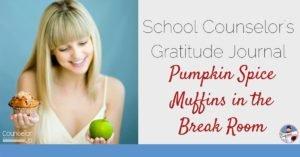 pumpkin muffins in the break room