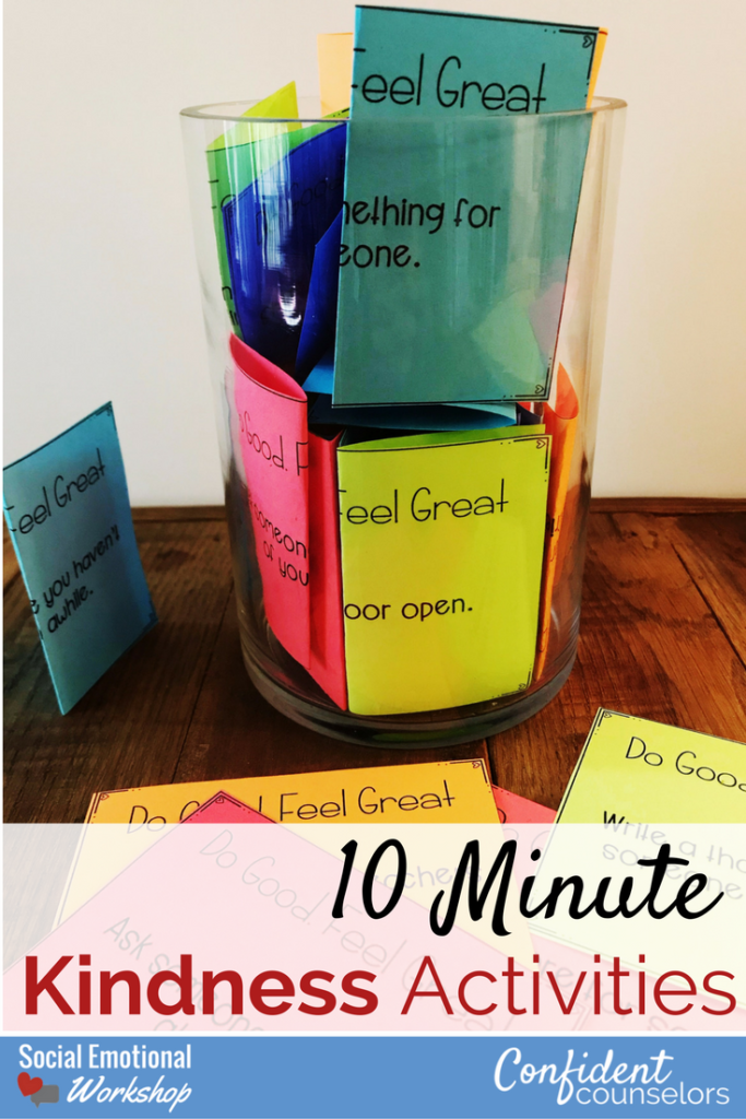 Kindness activities are great quick ways to build a culture of kindness in your classroom or school. Incorporate random acts of kindness, kindness jars, kindness journals, and thank you notes.