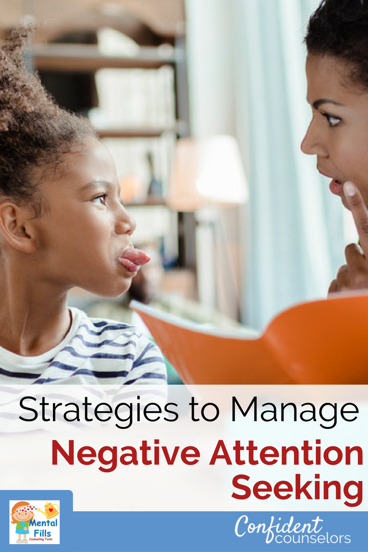 Managing negative attention seeking with a simple 3 step process from Robyn at Mental Fills