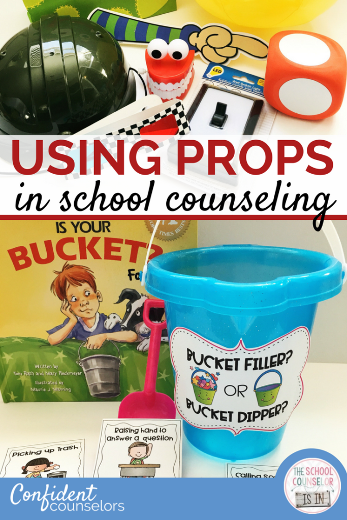 using props in school counseling activities