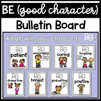 School counseling bulletin board: be character board