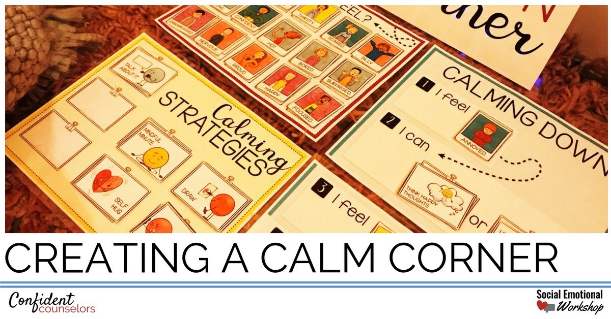 creating a calming corner in your counseling office