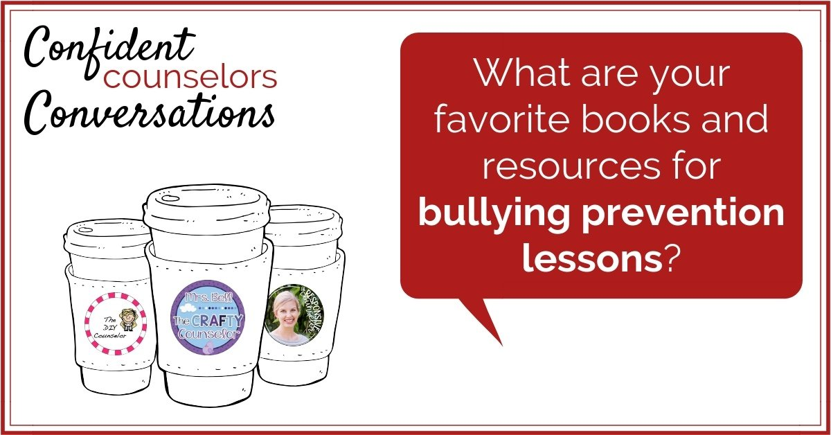 Bullying prevention is a regular part of a school counselor's job. It is necessary to have bullying resources and books about bullying on hand in your office. These Confident Counselors share their favorite resources to address bullying in small group, whole class, and other school counseling lessons.