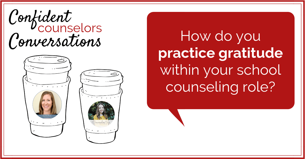 Do you practice gratitude in your school counseling practice? Taking time to practice gratitude can help relieve career stress and bolster morale.