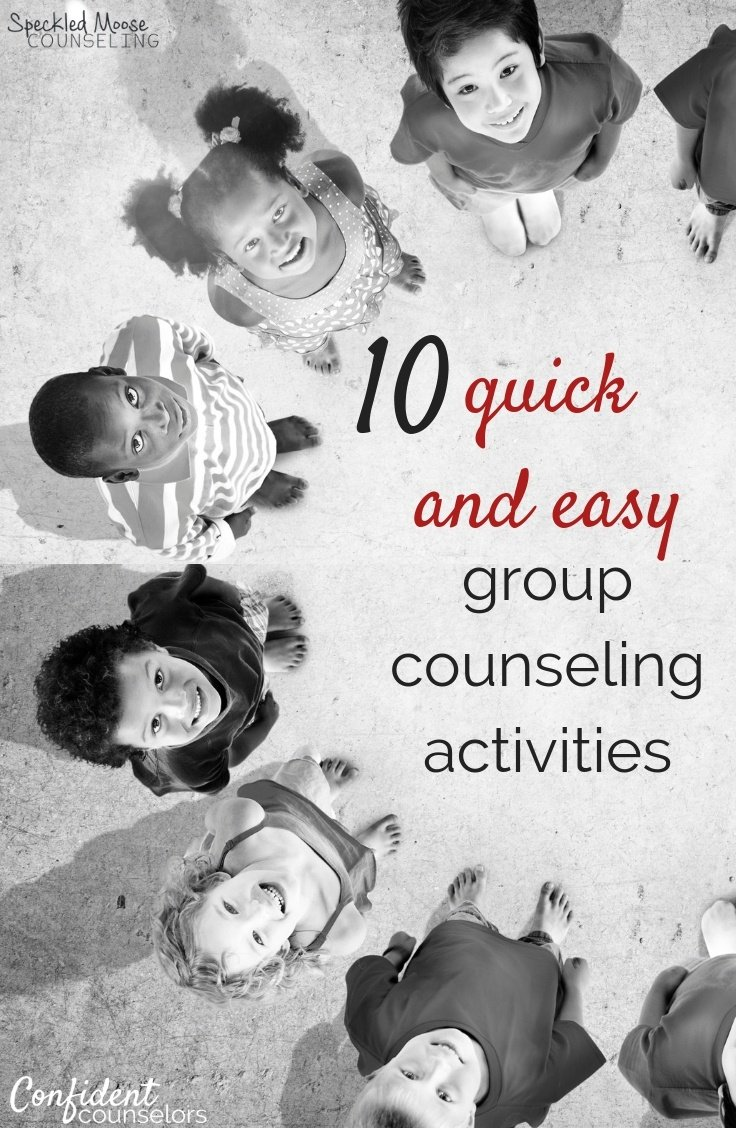 10 quick and easy group counseling activities PINTEREST