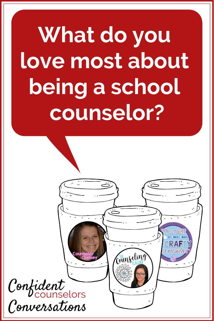 What do you love about being a school counselor? School counselors make a positive impact, provide a safe space, and have a unique role.