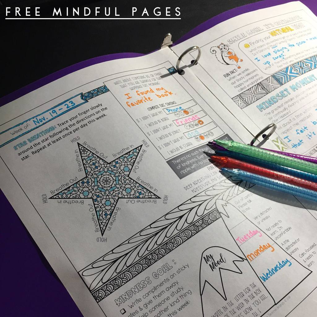 free mindful printables