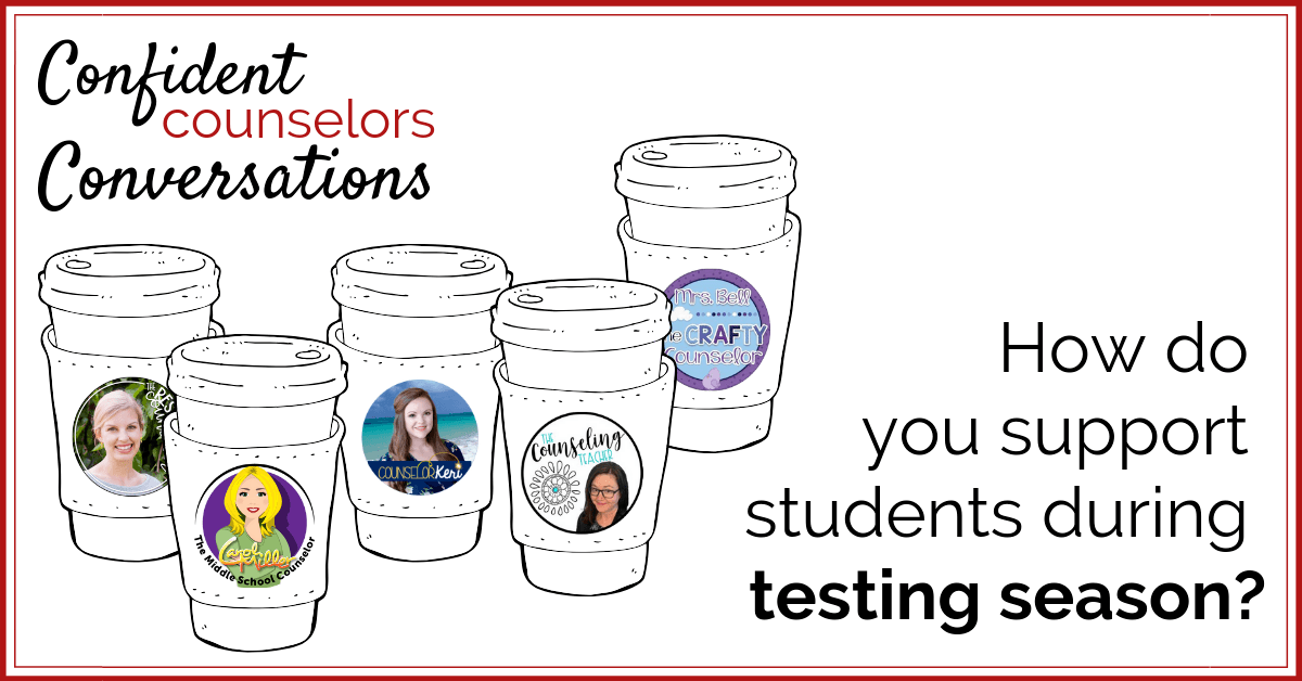 Activities to support students with test anxiety.