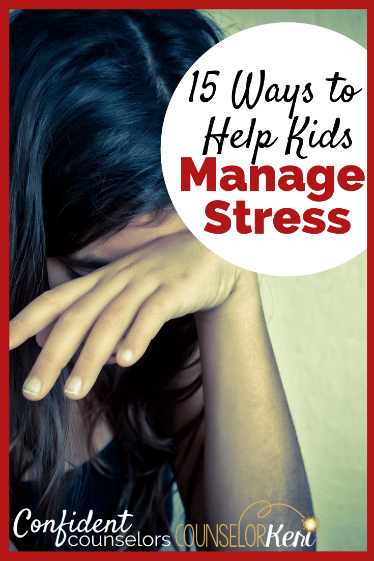 Are you working with totally stressed out students in school counseling? Check out these 15 strategies to help kids deal with stress! Stress management for kids is important in elementary school, middle school, and high school. Help kids cope with stress with these 15 stress busting coping skills.
