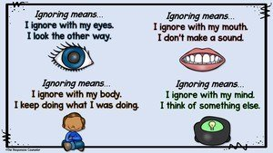 teaching how to ignore