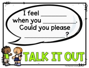 Teaching students conflict resolution with i-statements