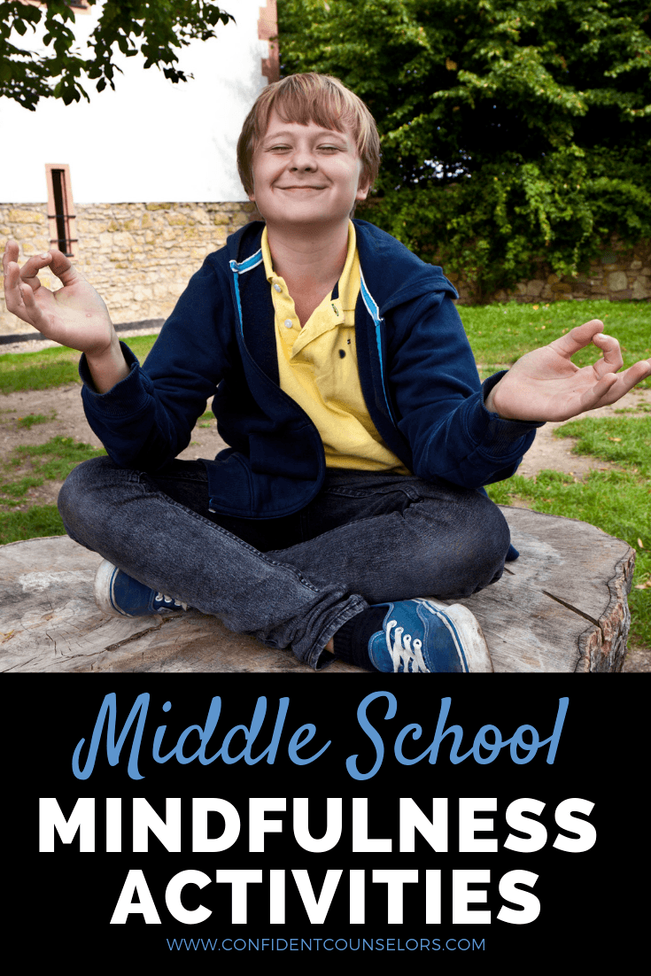 Looking for middle school mindfulness activities for your classroom guidance lessons or small group counseling sessions? Get your students excited about mindfulness by getting buy-in and doing breathing exercises, guided meditation activities, and active mindfulness exercises like yoga, senses observations, and more. The mindful moments are great for school counseling, morning meeting, or any time when you want to build a mindful practice with your adolescents and teens.