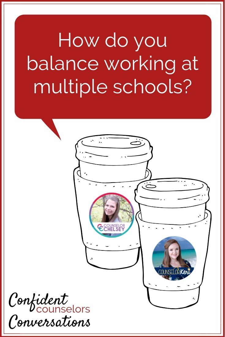 As a school counselor, how do you balance working at multiple schools?