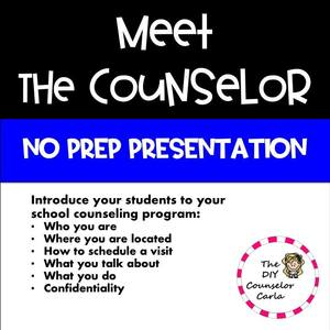meet the counselor lesson for middle school