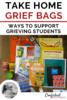 Supporting grieving students is effective when it involves their family. Grief bags that can be sent home by the school counselor can help families know how to support and help their child with easy grief activities and information. Check out what Laura from The Pawsitive School Counselor puts in her grief bags.